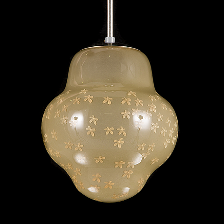 Gunilla jung, pendant light, model 1032, stockmann orno, finland, mid-20th century.