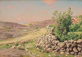 "512. Johan Krouthén, ""Bohuslänskt landskap"" (Landscape from Bohuslän on the southwest coast of Sweden)."