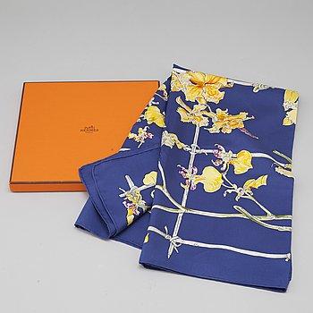 """HERMÈS, scarf, """"Orchidées""""."""