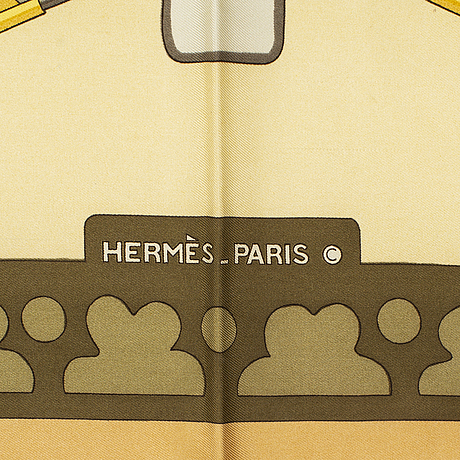 """HermÈs, scarf, """"diane"""", henri de linarès , original issue, 1972."""