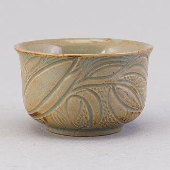 AXEL SALTO, a stoneware bowl signed Salto. Royal Copenhagen Denmark.