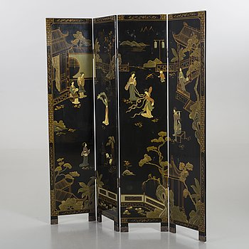 A Japanese folding screen  the 20th century.