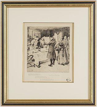 CARL LARSSON, Etsning, 1896, monogramsignerad i plåten.