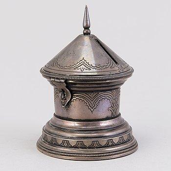 SPARBÖSSA, silver,  Moskva ca 1900, Nikolai Tarabrok.