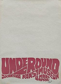 OKÄND KONSTNÄR - UTSTÄLLNINGSAFFISCH, screentryck, signerad och daterad 1969.