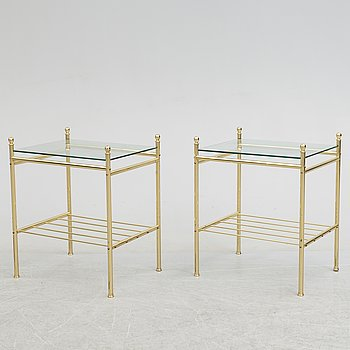 A pair of tables, late 20th century.