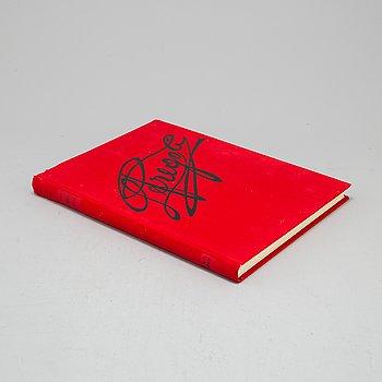 """BOK, """"Frègoli"""", Joan Brossa, signerad av Antoni Tapies samt Joan Brossa."""
