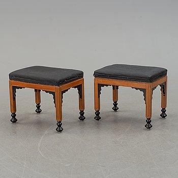 A pair of 19th century European stools.