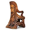 Knut fjaestad, an art nouveau sculptured and carved pine throne, sweden early 20th century.