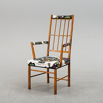 A armchair by Josef Frank, model 652, Firma Svenskt Tenn.
