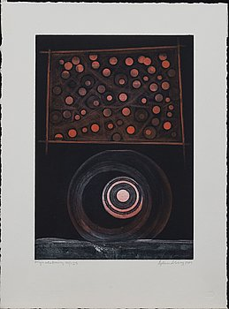 BERTIL LUNDBERG, etching in colours, signed and numbered 101/125, dated 1989.