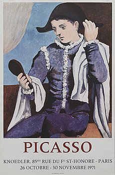 PABLO PICASSO, after, poster, Galerie Knoedler 1971.