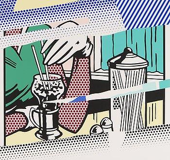 """105. Roy Lichtenstein, """"REFLECTIONS ON SODA FOUNTAIN""""."""