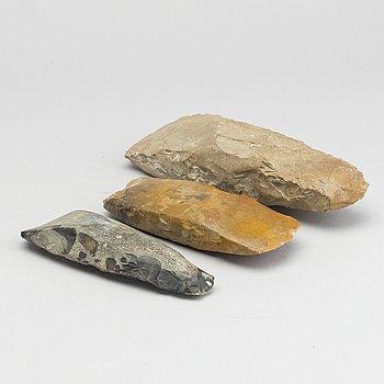 STENYXOR, 3 stycken, sannolikt neoliticum / neolitikum.