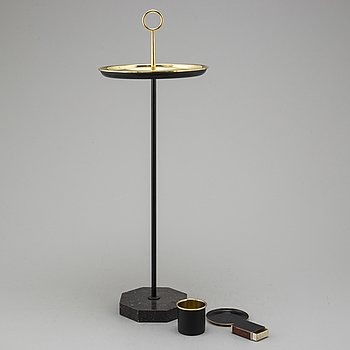A second half of the 20th century brass smoking table from Ystad Metall.