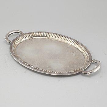 BRICKA, silver, Svenska importstämplar, 1900-tal.