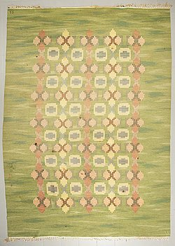 JUDITH JOHANSSON, matta, rölakan, signerad JJ (Judith Johansson, ca 271 x 380 cm.
