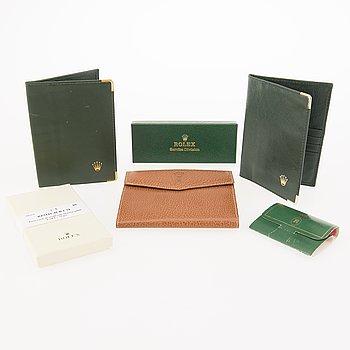 ROLEX, service box, korthållare, 3 st, plånbokt, tee pegs.