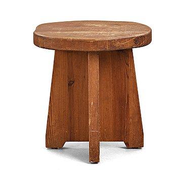 307. NORDISKA KOMPANIET, a stained pine stool, Sweden, 1930's-40's.