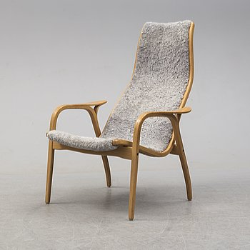 YNGVE EKSTRÖM, an oak 'Lamino' easy chair from Swedese.