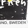 Martin kippenberger (tyskland 1953-1997), exhibition poster, tornberg gallery, lund, signed.