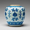 A large blue and white jar, qing dynasty, kangxi (1662 1722)
