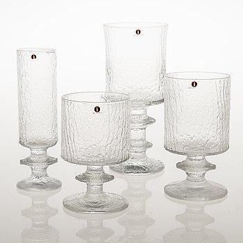 TIMO SARPANEVA, Set of 23 'Senator' glasses by Iittala, Finland, latter half of 20th Century.