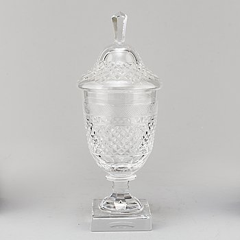 "ELIS BERGH, lidded goblet, glass, ""Kent"", Kosta, second half of the 20th century."