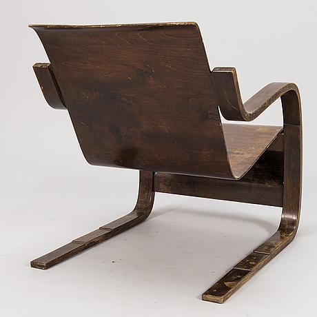"""Alvar aalto, nojatuoli, """"paimio"""", o.y. huonekalu-ja rakennustyötehdas a.b. 1932-1934."""