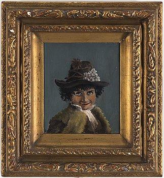 OLOF SAGER-NELSON, olja på pannå, signerad Olof Nelson och daterad 1887.