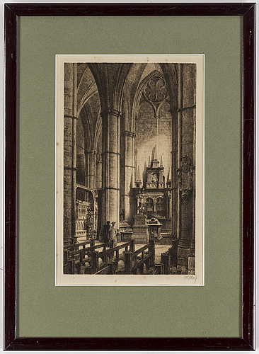 Axel herman hÄgg, etching, 1886, signed