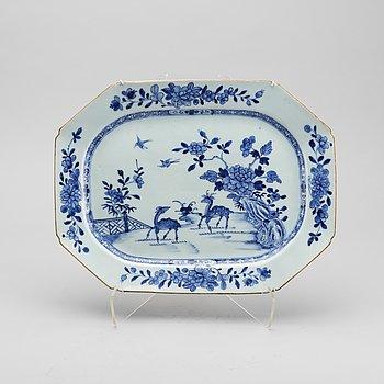 STEKFAT, porslin, Kina Qianlong, 1700-tal.