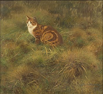 THURE WALLNER, oil on canvas, signed Th. Wallner and dated 1916.
