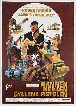 A James Bond movie poster, offset, 'Mannen med den gyllene pistolen'('The Man with the Golden Gun'), United Artists,1974.