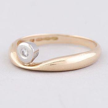 RING, briljantslipadc diamant, 14K guld.