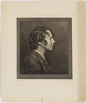 HENRY B. GOODWIN, handtryckt fotogravyr, signerad Goodwin och daterad 1916 med blyerts.