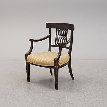 ARMCHAIR, late gustavian, early 19th century.