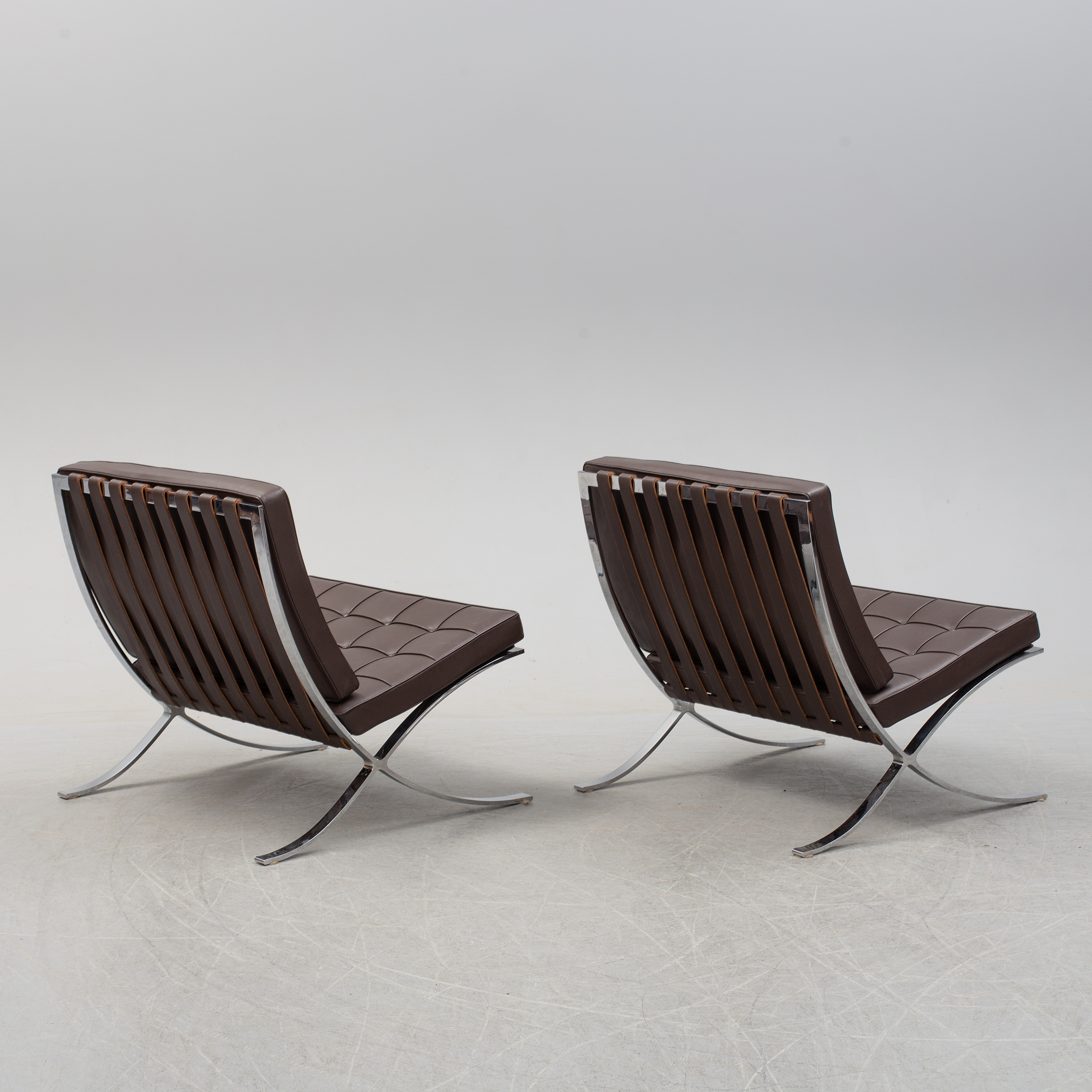 Ludwig Mies Van Der Rohe A Pair Of Barcelona Easy Chairs Knoll