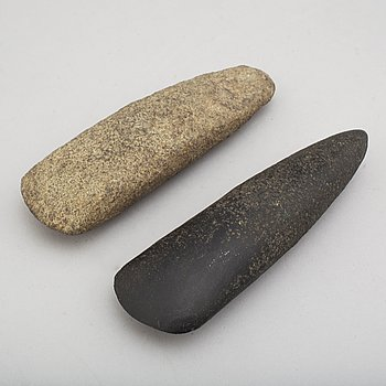 Two neolithic stone axes.
