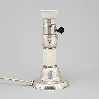 A Märta af Ekenstam silver table lamp, Malmö 1920.