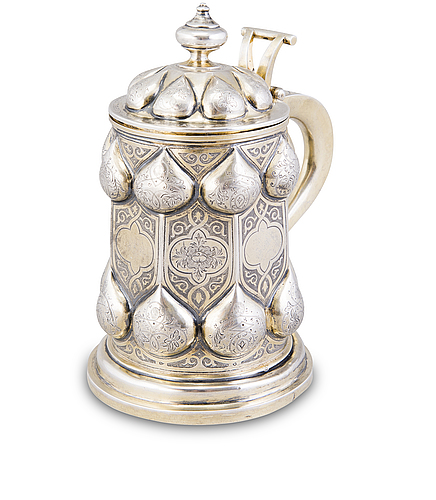Tuoppi, hopeaa, osittain kullattu, moskova 1862  tunnistamaton kultaseppä c.b.c.