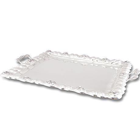 A tray, silver, vienna 1812, indistinct maker's mark