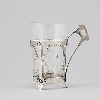 A David Andersen silver tea glass, Oslo Norway early 20th century.
