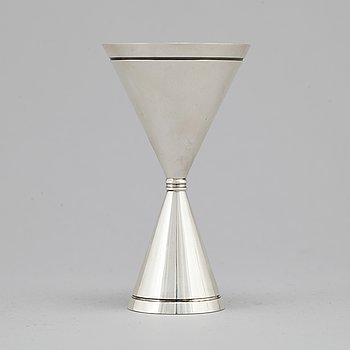 A wedding silver cup by Helge Lindgren, K Andersson Stockholm 1948.