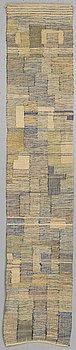 HJÖRDIS JANSSON, VÄVNAD, slätväv, ca 161,5 x 31,5 cm.