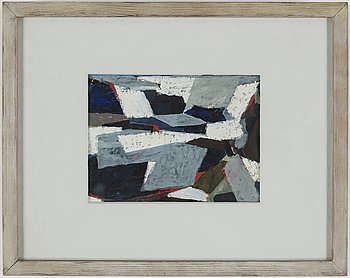 OLLE BONNIÈR, gouache on paper, signed and dated 1957.