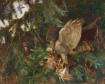 469. Bruno Liljefors, Bird of prey.