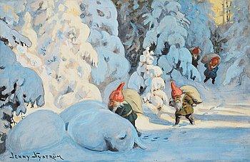 366. Jenny Nyström, Bringing the Christmas presents.
