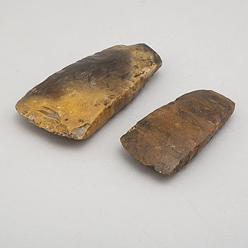 Two mid neolithic flint axes.