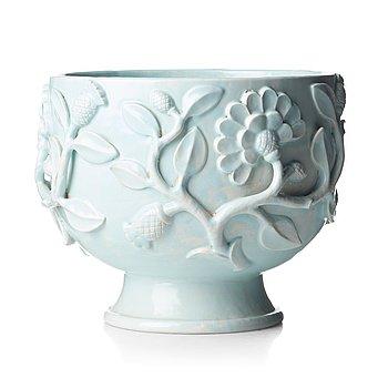 252. Wilhelm Kåge, a celadon-glazed faience flower urn, Gustavsberg 1925, this model was shown at The Paris exhibition 1925.